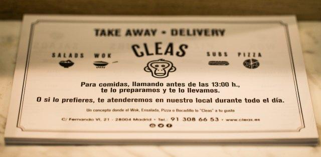 CLEAS, EL TAKE AWAY SALUDABLE DE SALESAS