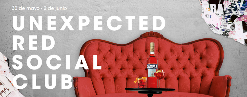 "UNEXPECTED RED SOCIAL CLUB, EL ""TEMPLO INESPERADO"" DE CAMPARI"